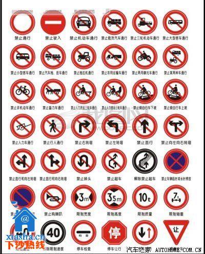 读 解读常见的交通信号标识 路上的交通标识图片
